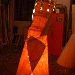 artistic wood lamp design